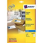 25 Feuilles pour étiquettes adresse jet d'encre   Avery   4 étiquettes Avery 99,1 x 139 mm