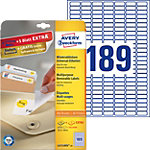 Étiquettes repositionnables Papier Rectangle Avery L4731 10 (H) x 25,4 (l) mm Blanc   4725