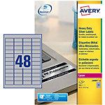 Étiquettes multifonctions AVERY Zweckform L6009 20 48 étiquettes par feuille 21,2 (H) x 45,7 (l) mm Métallisé   960