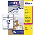 100 Feuilles d'étiquettes adresses Laser L7164   Avery   12