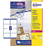 Étiquettes d'adresses Rectangle Laser 8 étiquettes par feuille Avery L7165 100 67,7 (H) x 99,1 (l) mm Blanc   100