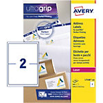 Étiquettes d'adresses Rectangle Laser 2 étiquettes par feuille Avery L7168 100 143,5 (H) x 199,6 (l) mm Blanc   100
