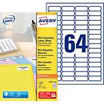 100 Feuilles d'étiquettes Laser   Avery   45,7 x 16,9 mm