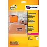25 Feuilles Etiquettes Laser   Avery   Invisibles 99,1 x 67,7 mm