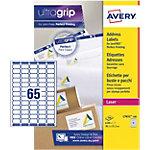 100 Feuilles d'étiquettes Laser   Avery   38,1 x 21,2 mm