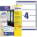 Étiquettes pour classeur Avery L7701 25 61 mm Blanc   25