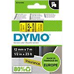 Ruban d'étiquettes DYMO D1 45018 12mm (L) x 7m (l) Noir, jaune
