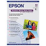 20 Feuilles de papier photo   Epson   papier premium glacé   A3 255g
