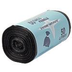 Sacs poubelle recyclés Polyéthylène 50 l Office Depot 80 (H) x 68 (l) cm 14 µm Noir   50 Sacs