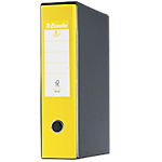 Registratore Esselte Eurofile giallo 2 80 mm 35 (h) x 8 (l) cm