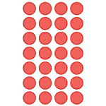 Etichette tonde adesive APLI rosso 168 etichette 6 fogli