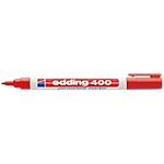 Marcatori permanenti edding 400 punta tonda 1 mm rosso 10 pezzi