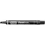 Marcatore Pentel N60 punta quadra 2,5 mm nero 12 pezzi