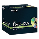 DVD RW Imation da 47 GB 4x spindle da 10 pz