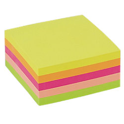 Notes assortiti neon Office Depot 76 x 76 mm