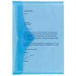 Buste con bottone Office Depot A4 blu polipropilene 23,5 (l) x 33,5 (h) cm 5 pezzi
