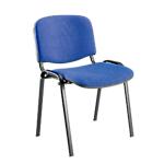 Sedia per sala d'attesa Classic imbottitura in schiumato poliuretanico blu