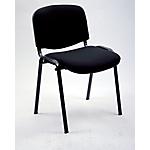 Sedia per sala d'attesa Classic imbottitura in schiumato poliuretanico nero