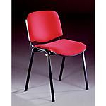 Sedia per sala d'attesa Ignifugo acciaio tubolare rosso