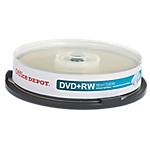 DVD+RW Office Depot Spindle 4.7 GB 120 min 10 pezzi