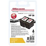 Cartuccia inchiostro Office Depot compatibile hp 56 nero c9319fn 2 per confezione