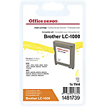 Cartuccia inchiostro Office Depot compatibile brother lc1000y giallo