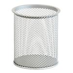 Portapenne Office Depot argento 20 Penne metallo traforato 10 (h) x 9 (p) x 9 (Ø) cm