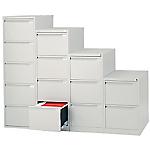 Classificatore Bisley per cartelle sospese 4 cassetti argento