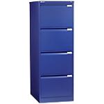 Classificatore Bisley per cartelle sospese 4 cassetti blu