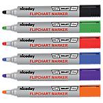Marcatori per lavagne mobili niceday Flipchart Marker a punta tonda 1,3 mm assortiti 6 pezzi