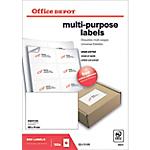 Etichette multifunzione Office Depot Just corners bianco 800 etichette 100 fogli