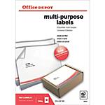 Etichette multifunzione Office Depot Just corners bianco 210 (l) x 297 (h) mm 100 etichette