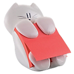 Dispenser Post it Gatto bianco 76 x 76 mm