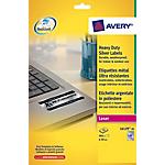 Etichette Avery Zweckform Heavy Duty argento 48 etichette 20 per confezione