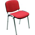 Sedia per sala d'attesa Classic acrilico rosso