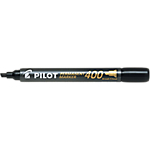 Marcatori permanenti Pilot 400 punta a scalpello 1.5 mm nero 12 pezzi