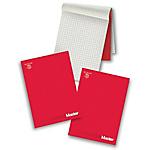 Blocchi Pigna Master A4 rosso a quadretti di 10 mm 29,7 (h) x 21 (l) cm 90 g