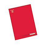 Blocco Pigna Master A4 rosso bianco 29,7 (h) x 21 (l) cm 90 g
