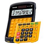 Calcolatrice da tavolo resistente all'acqua e alla polvere Casio WM 320MT nero, giallo