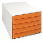 Cassettiera Multiform Fantasy Works grigio arancione traslucido 28,4 (l) x 38,7 (p) x 21,8 (h) cm