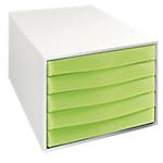 Cassettiera Multiform Fantasy Works grigio verde anice traslucido 38,7 (l) x 28,4 (p) x 21,8 (h) cm