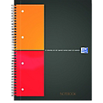 Blocchi spiralati OXFORD International Notebook nero, arancione a quadretti 4 fori A4+ 21 (l) x 29,7 (h) cm 80 g