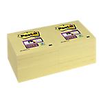 Notes riposizionabili Post it Super Sticky giallo canary 76 x 76 mm 12 pezzi 90fogli