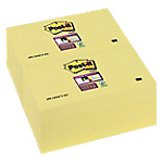 Notes riposizionabili Post it Super Sticky giallo canary senza perforazione 76 x 127 mm 74 g