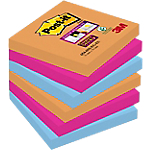 Notes riposizionabili Post it Super Sticky Electric assortiti 76 x 76 mm 70 g