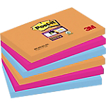 Notes riposizionabili Post it Super Sticky Electric assortito 76 x 127 mm 70 g