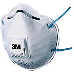 Respiratore antipolvere conchiglia 3M 8822 acciaio, polipropilene, poliuretano, gomma omologata in classe ffp2 bianco 10 pezzi