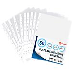 Buste Office Depot 11 buchi trasparente polipropilene 75 µm 22 (l) x 30 (h) cm 50 pezzi