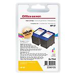 Cartuccia inchiostro Office Depot compatibile hp 57 3 colori c9503ae 2 per confezione