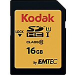 Scheda di memoria EMTEC KODAK SDHC UHS I U1 16 gb